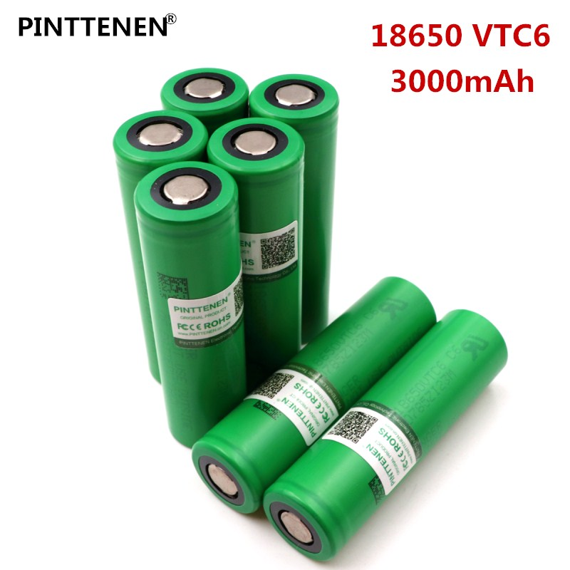 New 3PCs VTC6 3.7V 3000mAh rechargeable Li-ion battery 18650 for Sony US18650VTC6 30A Electronic cigarette toys tools flashligh