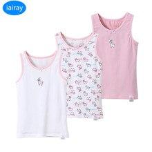 iairay summer casual tops for girls kids girl pink cotton top cute tank children vest sleeveless shirt clothing