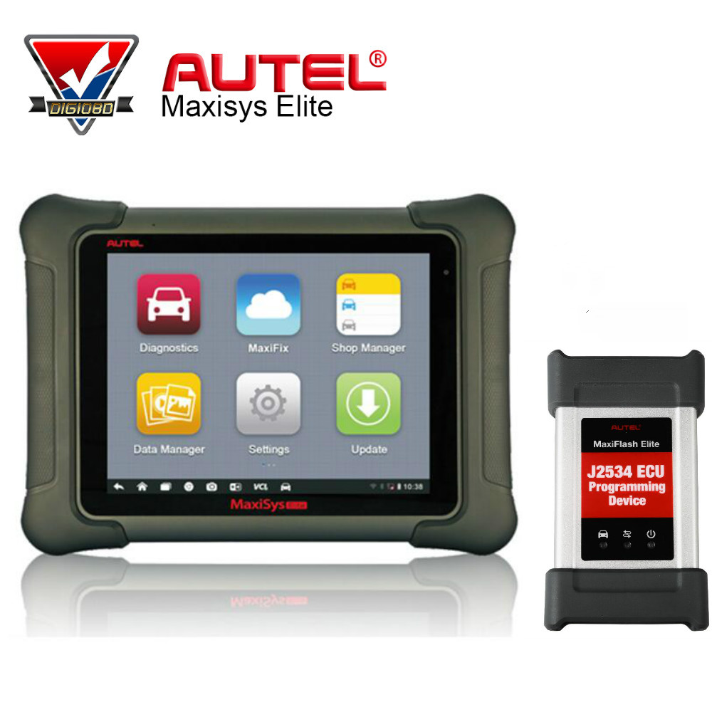 Autel Maxisys Elite Diagnostic Tool Wifi Bluetooth Full OBD2 Automotive Scanner with J2534 ECU Programming & 2 Years Free Update