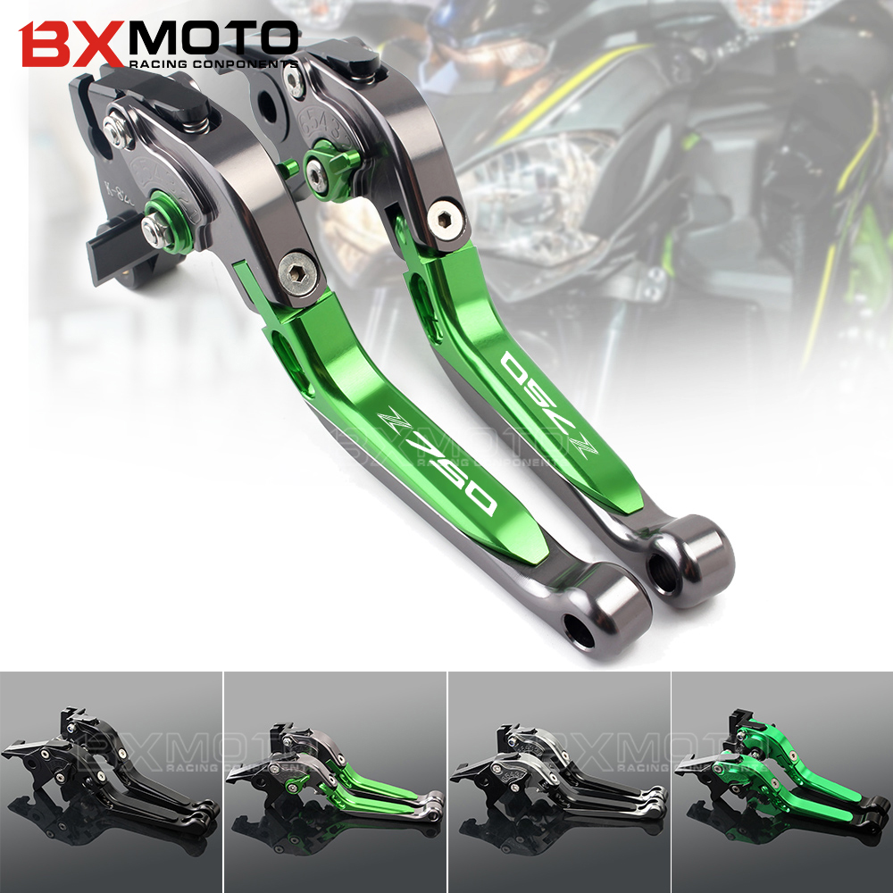BXMOTO Motorcycle Accessories Cnc Aluminum Brake Clutch Lever Set For Kawasaki Z750 Z 750 2007-2012 Motorbike Brake Lever Z750 for moto guzzi california custom touring classic audace eldorado mgx21 gold motorcycle aluminum 3d short brake clutch lever