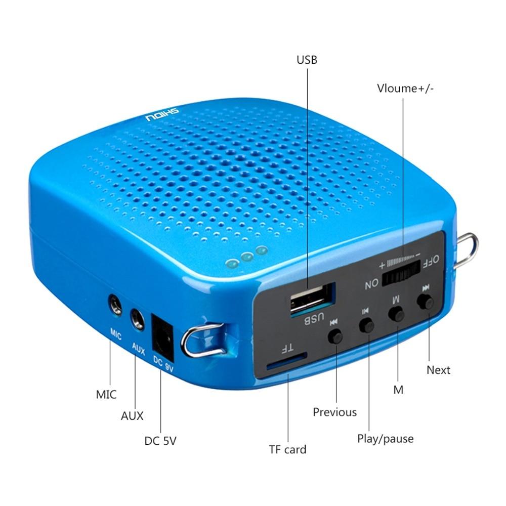 SHIDU Mini Portable Speaker Audio Amplifier Loudspeaker With ...
