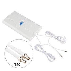 Image 1 - 88dBI 3G 4G LTE antena móvil Booster Antena de Panel mImo 2 * SMA macho/TS9/CRC9 conector con Cable 700 ~ 2600Mhz
