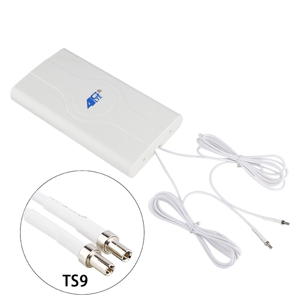 88dBI 3G 4G LTE Antenna MobIle Antenna Booster MImo Panel Antenna 2*SMA-male/TS9/CRC9 Connector WIth Cable 700~2600Mhz