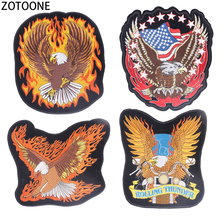 ZOTOONE Eagle Patch for Clothes Punk Iron on Patches Diy Embroidered Applique Clothing Large Back Stickers Badge Applications