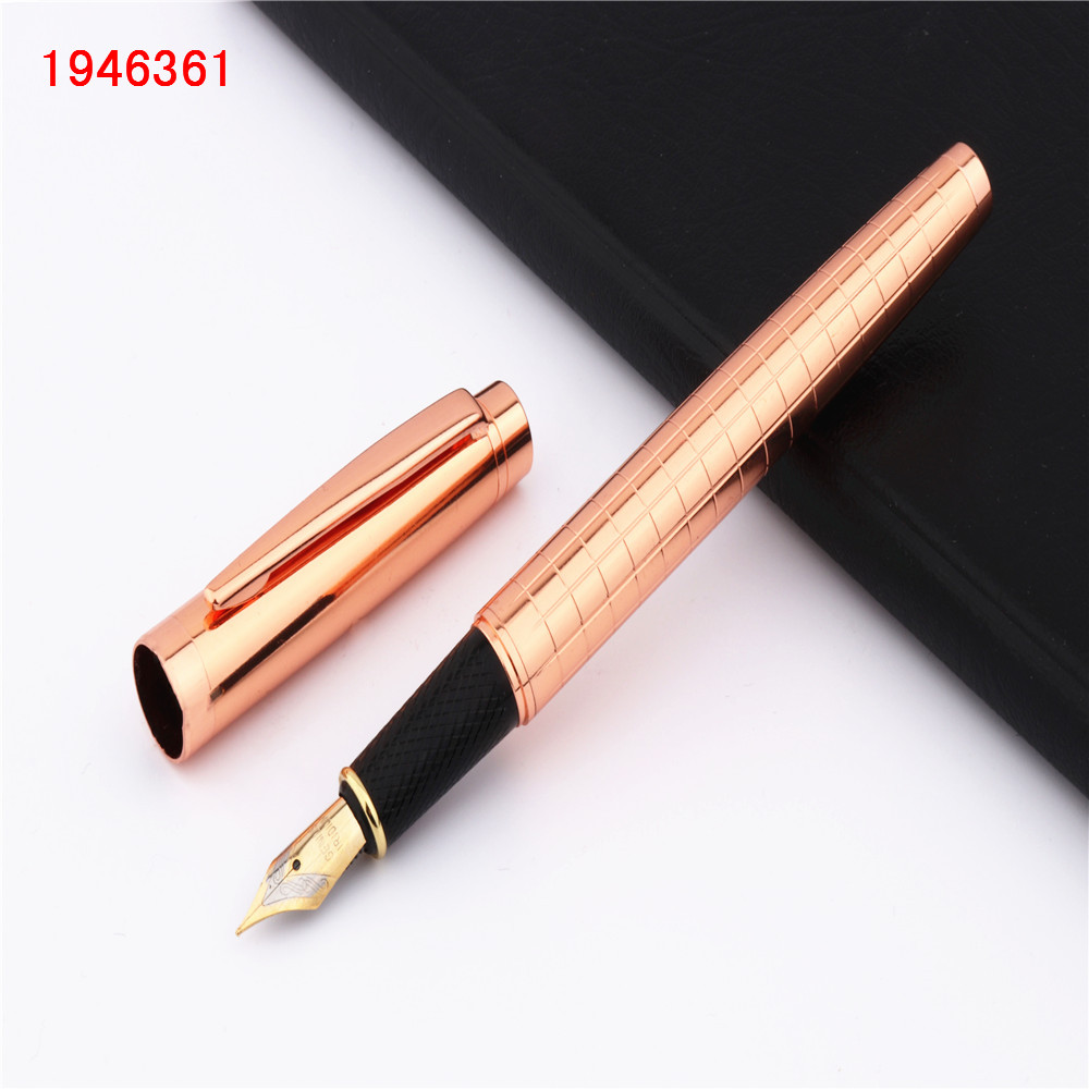 856 Gold Plated Ballpoint Pen with Gold Trim Brand New Jinhao No Blue Refill