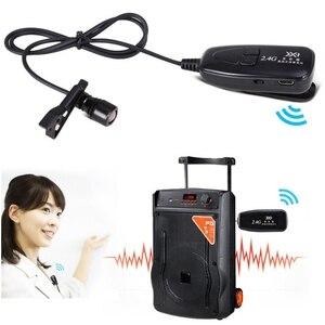 Image 3 - Новый беспроводной микрофон 2,4G с петлей, нагрудный микрофон, гитарный Пикап для динамиков, портативный аудио и видео