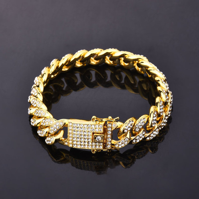 Gold Color Men Hiphop Iced...