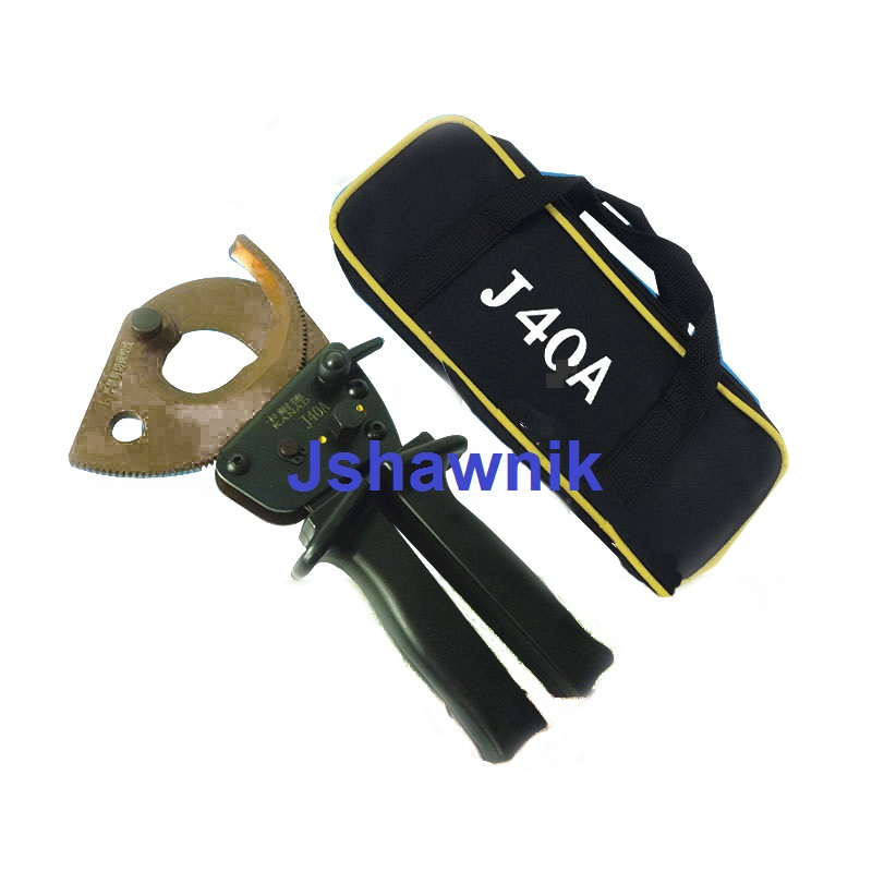 Manual ratchet cable scissors gear cutting wire clamp Cable shearing electrician clipper with bag