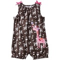 brown Baby Girls Rompers giraffe Shortalls newborn singlet vest romper baby jumpsuit new born baby girls months
