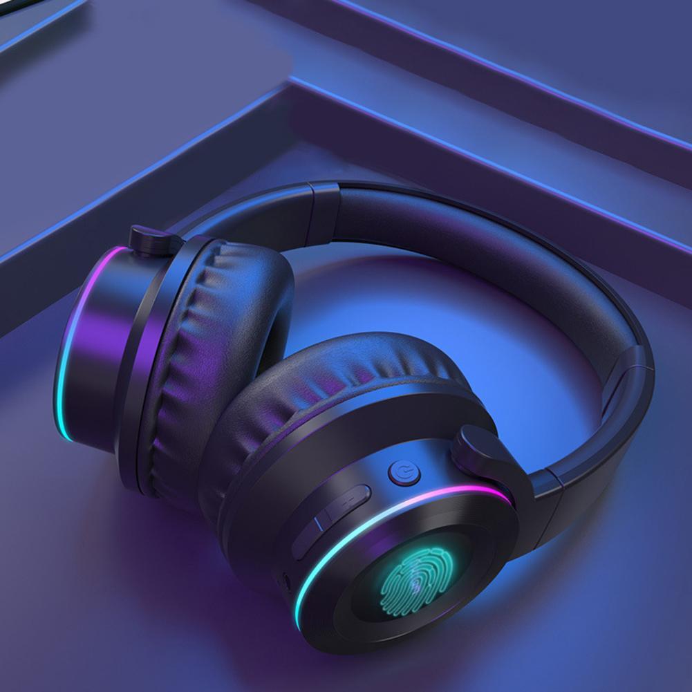 Casque stéréo sans fil Bluetooth 5.0 de contrôle de contact léger coloré portatif populaire