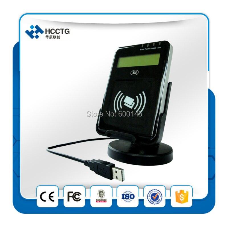13.56 MHZ LCD USB PC - liée NFC sans contact lecteur Writer soutien ISO14443 ab carte avec sdk gratuit kit pour E - banque / Pay - ACR1222L - 2