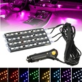36 LED 4x Car SUV Interior Light Decorative RGB 12V Atmosphere Lamps Lights SMD Light Neon Lamp Strip Car Party Lights