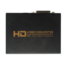 цена на HDMI to DVI with Audio Converter Adapter + Optical output and 3.5mm audio jack 1080P for HD Projector TV Blu-Ray DVD PS4 Xbox360