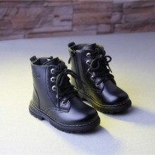 Модные детские кожаные ботинки детские Ботинки Martin зимняя обувь для мальчиков кроссовки для маленьких мальчиков зимние ботинки зимние сапоги