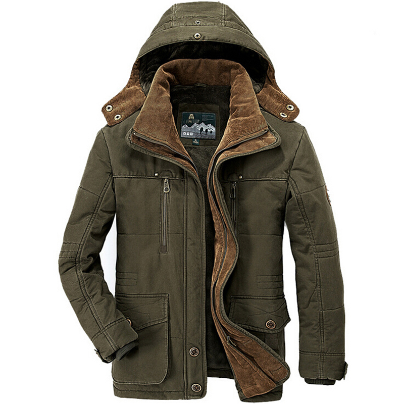 2019 Military Winter Jacke Männer Windjacke Dicke Warme Unten Mäntel Herren Outwear Parkas Jaqueta Masculino Militar Jacken Plus 4XL