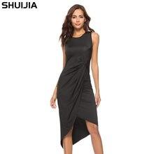 The new 2018 women s sexy dress Irregular fold dress Amazon wish hot hot  style f312e35bb527