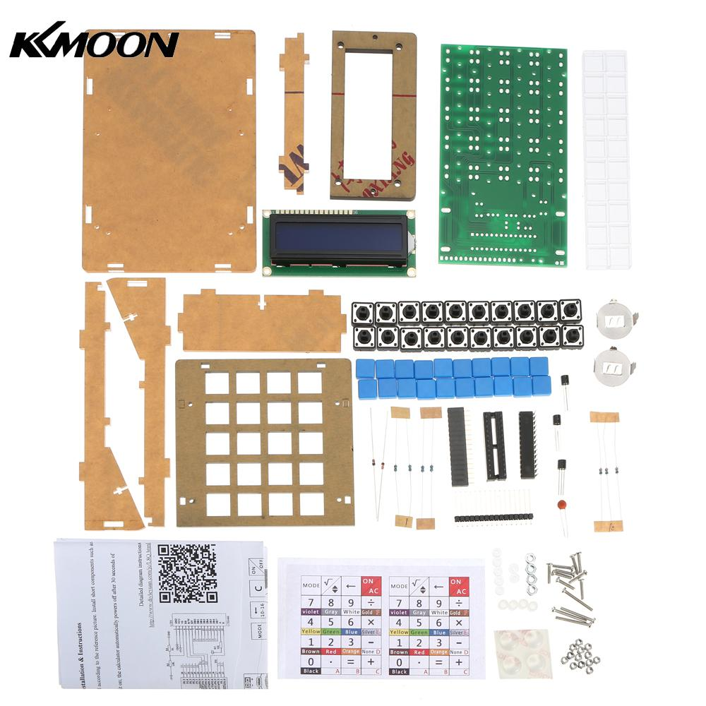 DIY Calculator Counter Kit Calculator DIY Kit LCD Multi-purpose Electronic Calculator Electronics Computing with Acrylic Case