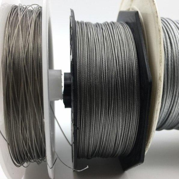 50 M líneas de Pesca de alambre de acero de Pesca líneas de potencia máxima 7 he