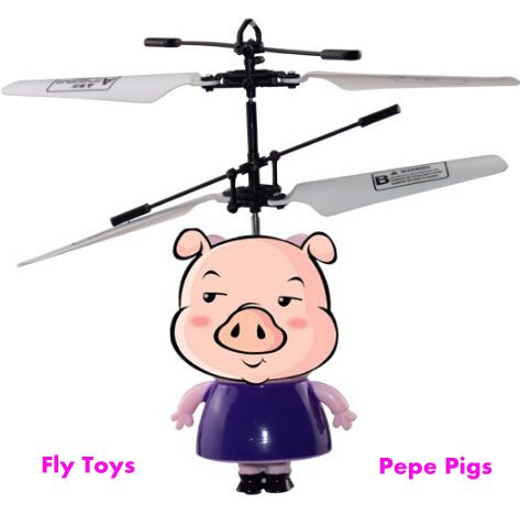 MJDTOYS X59 Pepe pigs Induction Fly Toys Remote Control RC ...