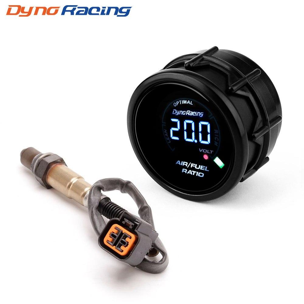 Dynoracing 52mm Indicador de relación aire-combustible del coche Digital genuino Narrowband O2 Sensor de oxígeno trasero para 03-10 Hyundai Kia 2.0L