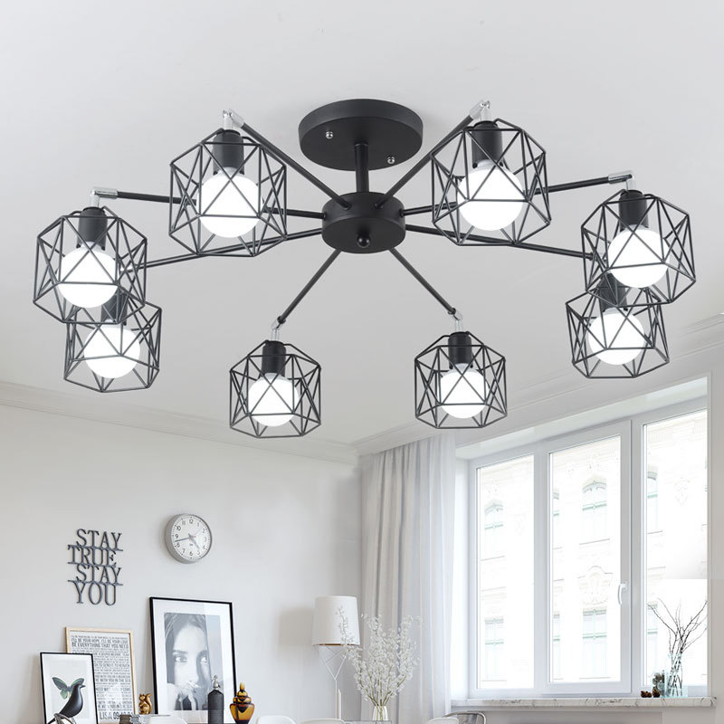 Chandeliers Responsible Led Hanging Lamps Novelty Chandelier American Style Living Room Lights Bedroom Chandeliers Iron Glass Fixtures Nordic Lighting