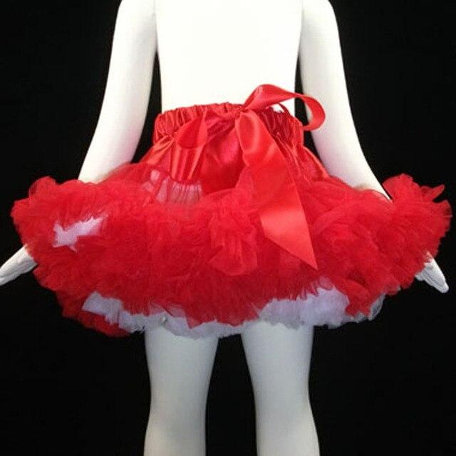 6df9d15d27d Tutu jupe enfant fille vêtements tutu pettiskirt costume pour enfants Rouge  et blanc jupon Chirstmas jupe