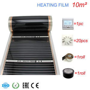 Image 5 - 10M2 Carbon Foil Kits Electric Underfloor Heating Film, Room Digital Thermostat, Heating Film Clamps
