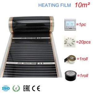 Image 5 - 10M2 Carbon Folie Kits Elektrische Fußbodenheizung Film, Zimmer Digitaler Thermostat, Heizung Film Schellen