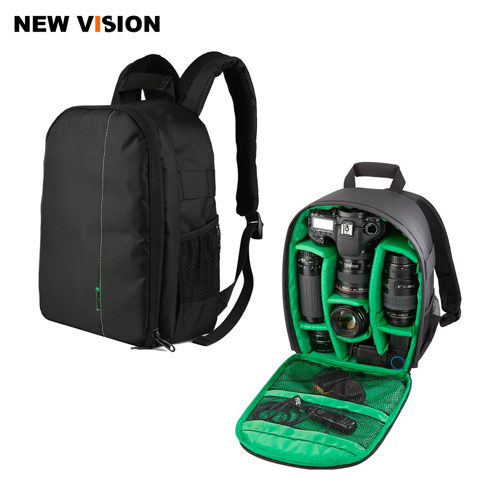 Photo Camera Backpack Camera Bag Case for DSLR Flash and Accessories