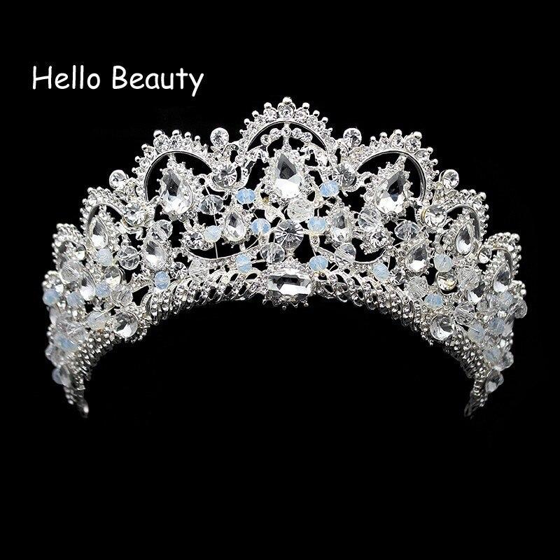 Sale Luxus Hochzeit Diademe Krone Haarschmuck Perlen Weiß Kristall Klar 5 Cm Kleidung & Accessoires Hochzeit & Besondere Anlässe
