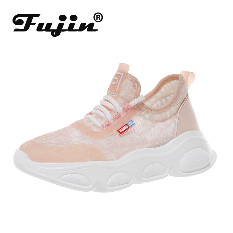 Fujin New Summer Old Shoes Dropshipping Women Chaussures Breathable Mesh Surface Tide 2019 Wild Sneakers