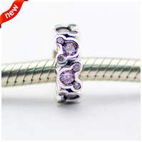 Real 925 Sterling Silver Beads Mouse Spacer Charms for Women DIY Jewelry Fits European Pandora Bracelet & Necklace FL370