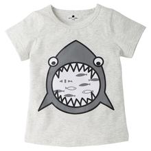 Original single summer new childrens clothing T-shirt cotton round neck boys and girls cartoon children
