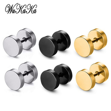 6 PCS 3 Set Fashion Silver Plated Crystal Men Studs Earrings Non-mainstream Personality 316L Stainless Steel Earrings For Boy