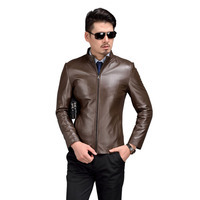 AIBIANOCEL 100% Sheepskin Men Genuine Leather Jackets Jaqueta De Couro Masculina Spring Autumn Male Pure Leather Jackets For Man