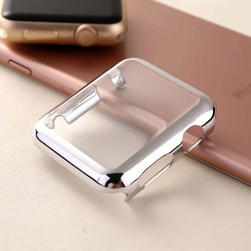 Gold Silver Black Rose Gold PC with Screen Protector Full Body Cover Case for Apple Watch Series 1 38/42mm Protective Shell 100pcs a lot wholesale silicone case skin shell protective cover for wii for u gamepad protector full body