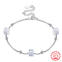 925 Sterling Silver Bracelets For Women Crystal From Swarovsk Elements Sugar Personality Silver Bracelet Bridal Wedding Jewelry