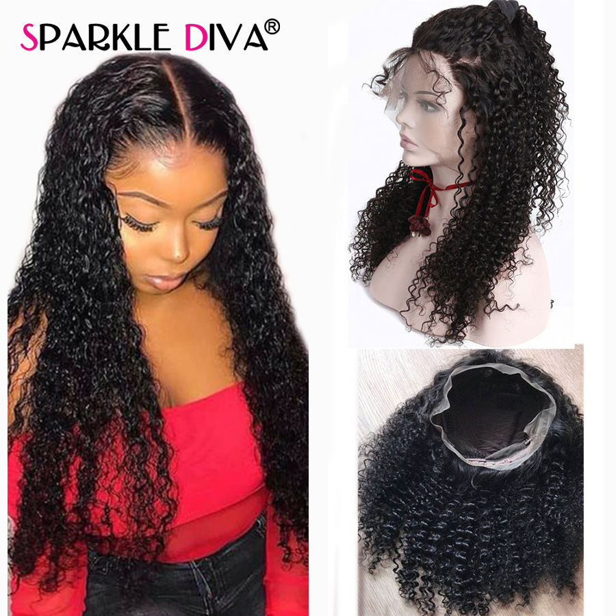 Afro Kinky Curly Human Hair Wig 180 Density Brazilian Short And Long Human Hair Wigs For