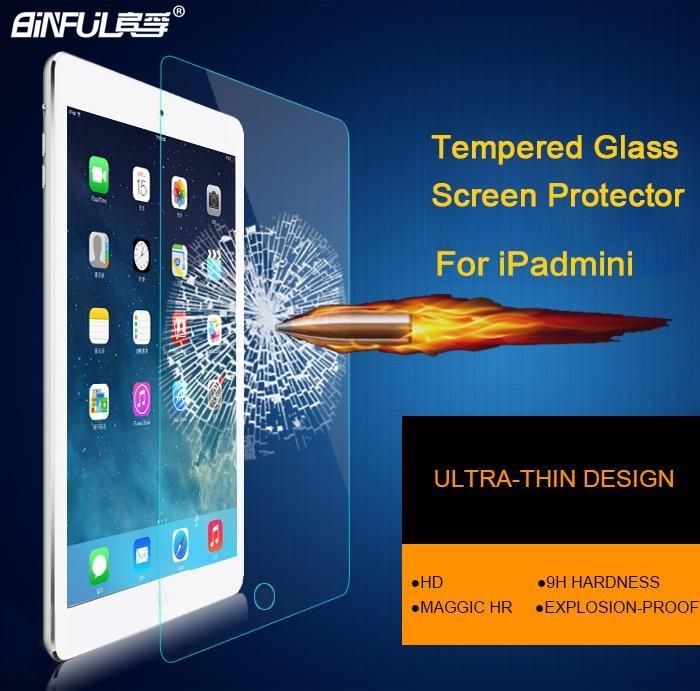 9H 0,3 mm Premium Schutzfolie aus gehärtetem Glas für iPad mini 1/2/3 High Definition Displayschutzfolie für iPad mini 4 5