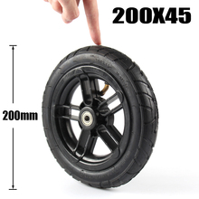 "8 inch מנופח גלגל עבור דואר twow S2 קטנוע M8 M10 פנאומטי גלגל עם פנימי צינור 8 ""קטנוע כיסא גלגלים אוויר גלגל"