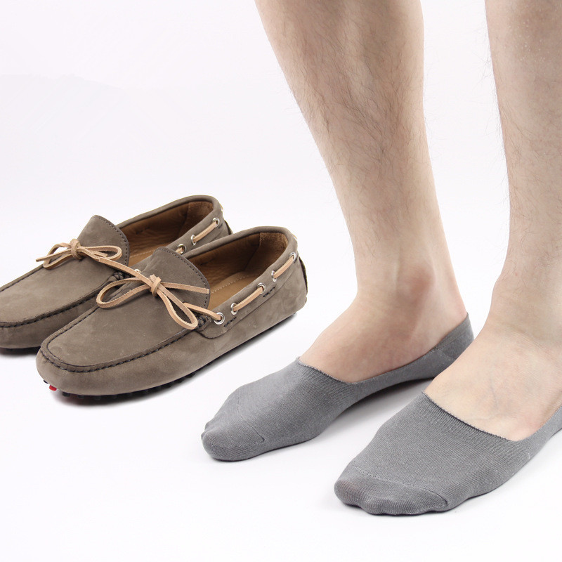 60pairs Male invisible socks bamboo fibre 100% cotton summer socks rearfoot Moccasins