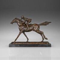 ATLIE Бронзовый скачки статуя античный мужской лошадь гонщик скульптура бронза латунь Статуэтка для декорация внутри снаружи