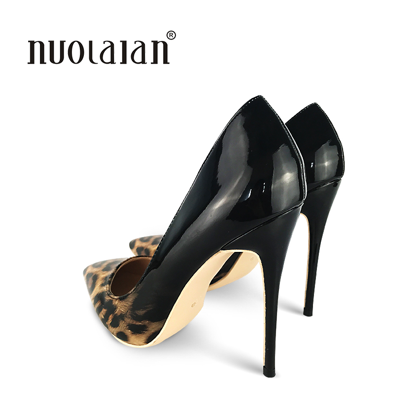 2018 Brand Women Pumps Sexy Leopard Shoes High Heels 12cm Women Shoes High Heel Party Wedding Shoes Wo Size 4 11 in Women 39 s Pumps from Shoes