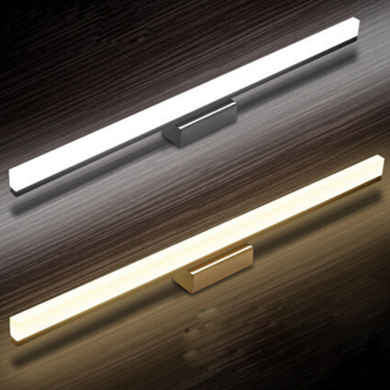 New Acrylic Lamp LED 9W 12W 40cm 50cm Bathroom LED Wall Light Mirror Front Lighting Waterproof Antifogging LED Wall Lamp Sconce 40cm 12w acryl aluminum led wall lamp mirror light for bathroom aisle living room waterproof anti fog mirror lamps 2131