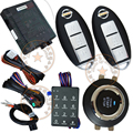 cardot keyless entry&push start stop button system,fitting auto or manual transmission cars,0.85/1.2 seconds start time setting