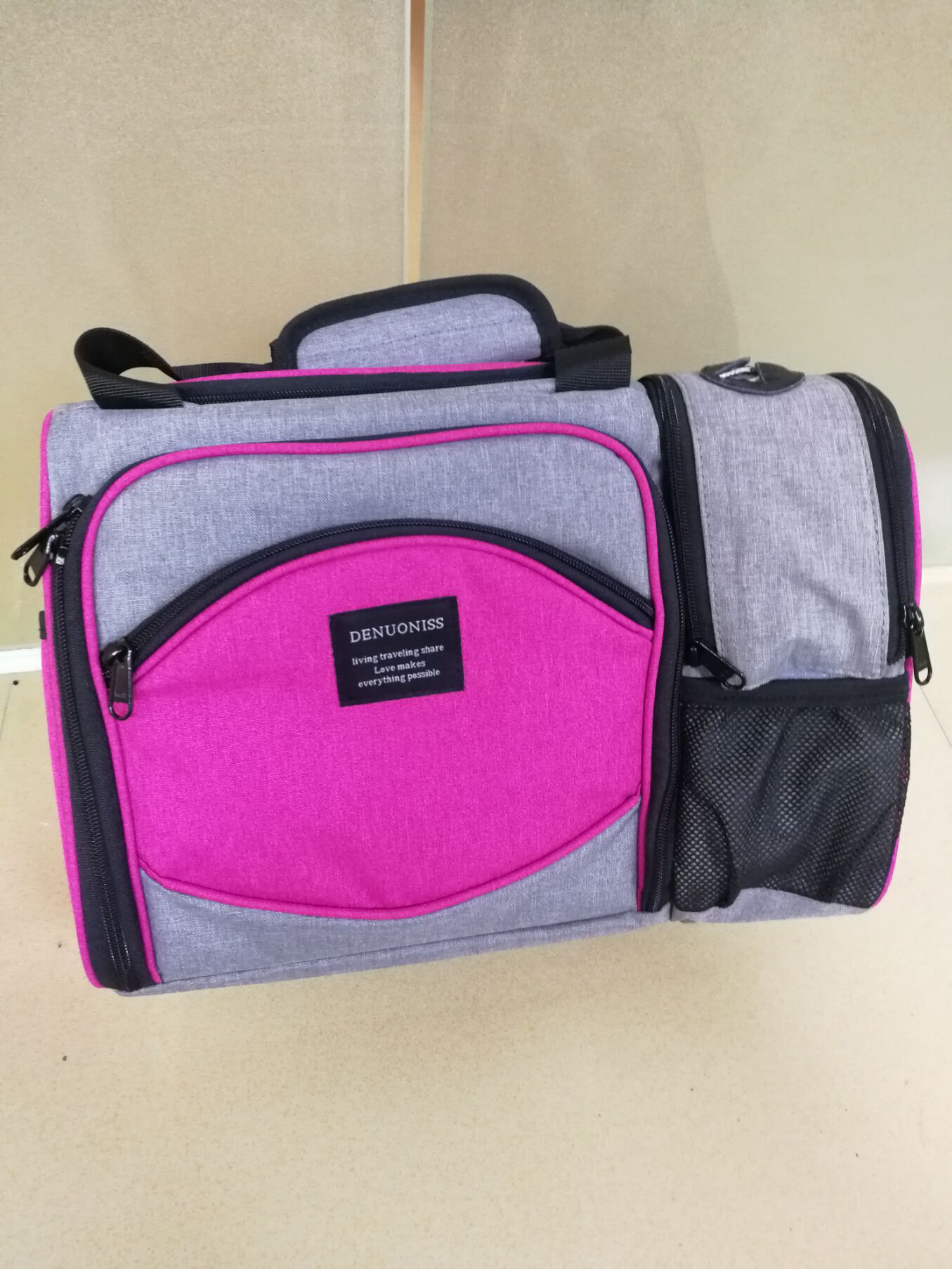 Waterproof Picnic Lunch Bag Insulated Portable Fabric Thermal Cooler Bag Large Volume Storage Bag Wine Bag photo review