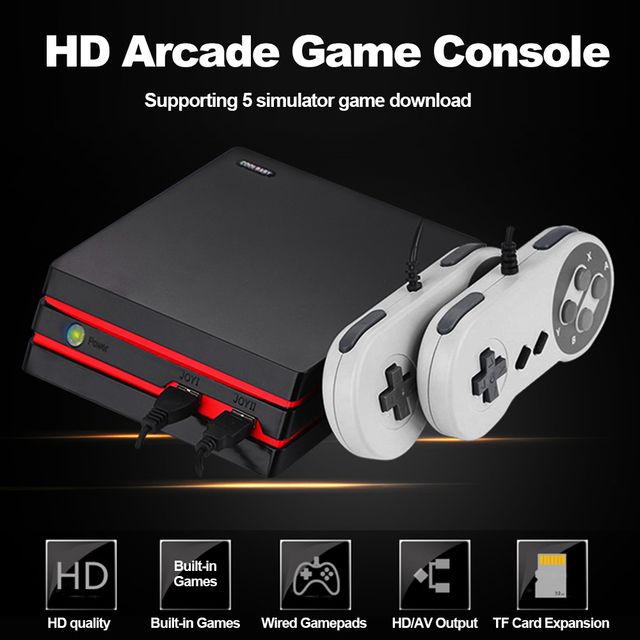 HD Family Game Console TV Video Game Console Dual Wired Gamepad Built-in Classic Games AV Dual Output support SD Card