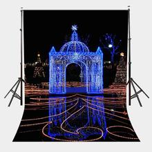 5x7ft Beautiful City Night View Backdrop Lights Decoration Square Photography Background Party Photo Shooting Props