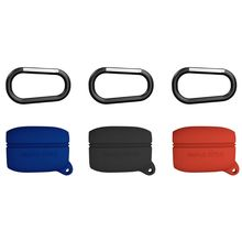 New Anti-shock Flexible Silicone Comprehensive Protective Case Full Cover with Carabiner for Jabra Elite Active 65t Earphone