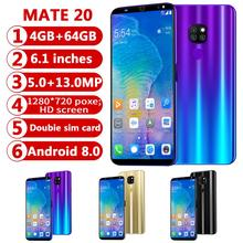 Get more info on the CHAOAI Smart Phone Android 4GB+64GB Mate20 Pro 6.1'' Full Screen Smartphone 8 Core Face Unlock Dual Sim 3g Cell Phone